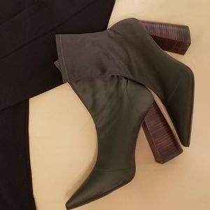 To-Die-For Steve Madden army/olive green boots